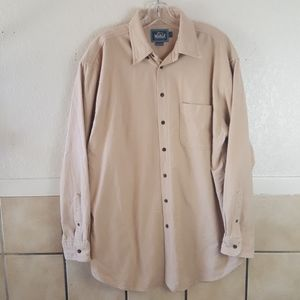 Woolrich tan long sleeve flannel shirt Size Large